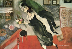 Marc Chagall, The Birthday (1915)